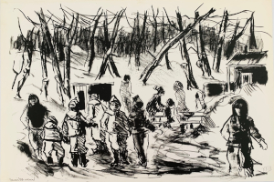 Untitled (kids) lithograph