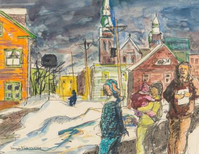 Street_in_Quebec-Henri_Masson