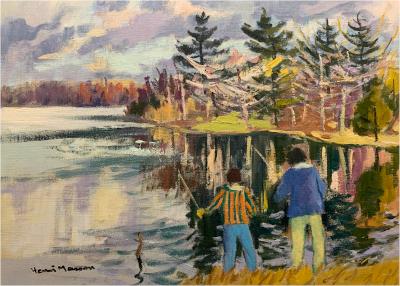 Spring fishing, Lac Beauchamp, Québec