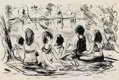 Six Girls at the Lake